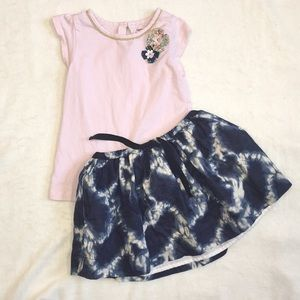 🐰Girls simple pink flower top, 4T